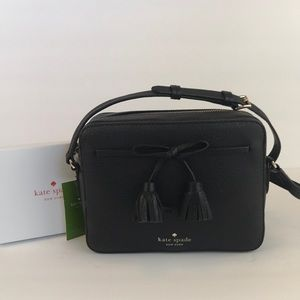 Kate Spade Crossbody Camera Bag  Black Leather